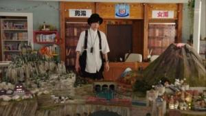 ファンタジック本屋かみやまのジオラマ
